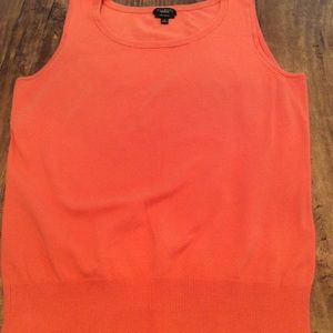 TALBOTS LADIES ORANGE PIMA COTTON TANK TOP, SMALL